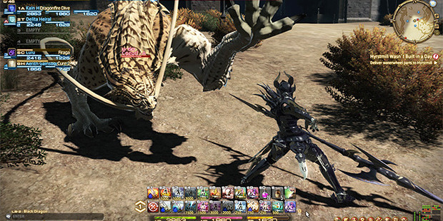 A scene from the video game Final Fantasy XIV: A Realm Reborn.