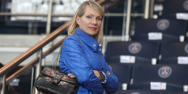 Margarita Louis-Dreyfus attends the French Ligue 1 between Paris Saint-Germain and Olympique de Marseille at Parc Des Princes on October 4, 2015 in Paris, France. Photo / Getty