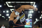 Valerie Adams competes in the shot put final at the IAAF World Indoor Championships. Photo / Getty