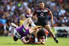Warriors prop James Gavet has escaped charge for his tackle on Storm fullback Cameron Munster. Photo/Getty.