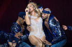 Mariah Carey performs on stage in London. Photo / Getty Images