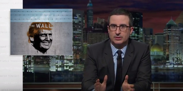 Loading John Oliver takes down Donald Trump's proposal for a wall between the US and Mexico.