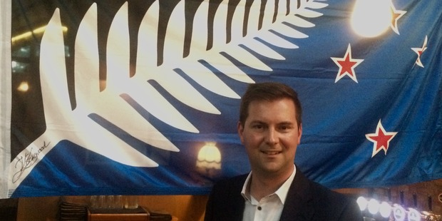 Lewis Holden is hosting a Change the Flag results party at The Oakroom bar in central Auckland. Photo / Amelia Wade