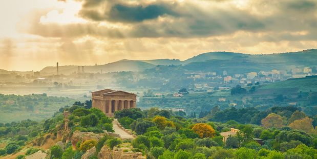 The Valley of Temples near Agrigento, Sicily. Photo / 123RF
