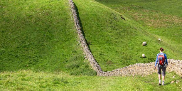 Hadrians Wall Walk in Northumberland, North East of England. Photo / 123RF