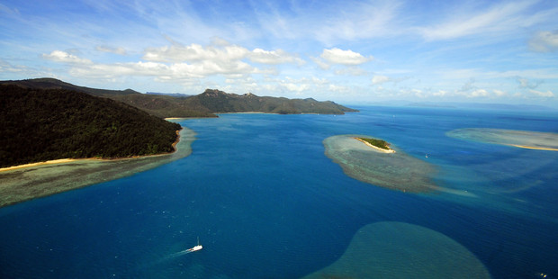 Seeing the Whitsundays by helicopter is a once-in-a-lifetime opportunity. Photo / Tourism and Events Queensland