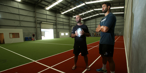 The Athlete Factory co-directors Mike Rogers, left, and Keepa Mewat inside the new training facility. Photo / John Borren
