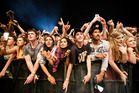 The crowd cheers as Kendrick Lamar performs at the Auckland City Limits festival at Western Springs. Photo / Chris Loufte