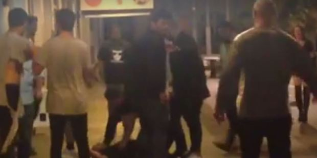 Loading Picture from footage of the brawl. Photo / Facebook