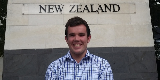 Student Andrew Lamb, 22, who is in his final year of dentistry at the University of Otago. Photo / Supplied