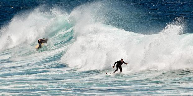 Big surf at Mount Maunganui. Photo / Andrew Warner