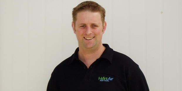 Jason Anderson, owner of Hort Air Services. Photo / Supplied
