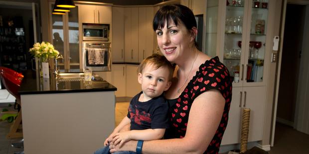 Melanie Stevenson and her son Tom Stevenson. Photo / Alan Gibson