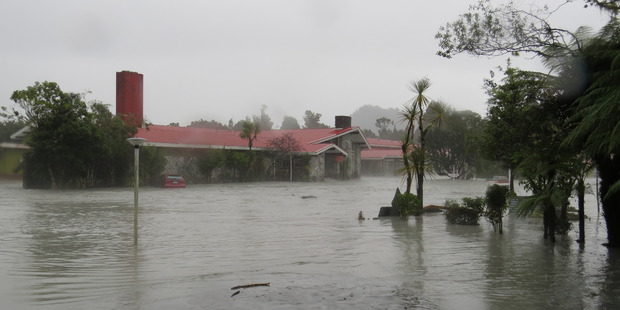 Loading Flooding in Franz Josef at the Scenic Circle Hotel. Photo / Supplied