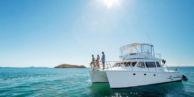 Catamaran near Great Keppel Island.