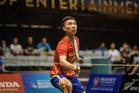 Huang Yuxiang (China) vs top seed Son Wan Ho (Korea) at the SKYCITY NZ Badminton Open, 25th March 2016. Photo / Luke Lee