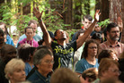 Good Friday inter-denominational service at the Redwoods today.  Photo/Ben Fraser