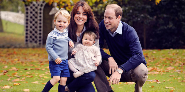The Duke and Duchess of Cambridge with their two children, Prince George and Princess Charlotte. Photo / Kensington Palace