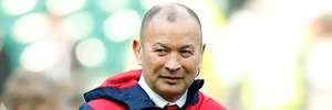 England's Head Coach Eddie Jones watches the warmup before the Six Nations international rugby match between England and Wales. Photo / AP.