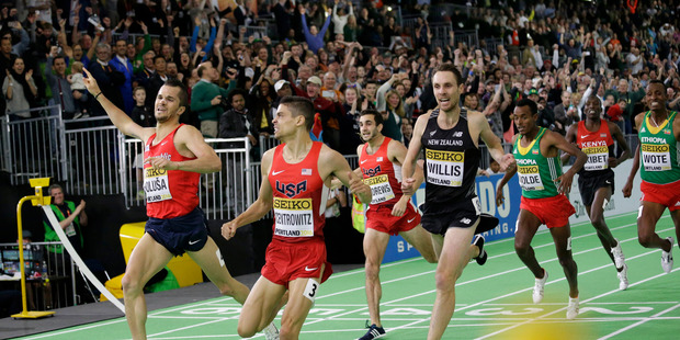 Nick Willis finished third at the World Indoor Athletics Championships. Photo / AP.