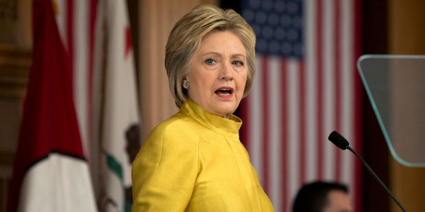 Democratic presidential candidate Hillary Clinton speaks about counterterrorism at the Bechtel Conference Center at Stanford University in Stanford, Calif. Photo / AP