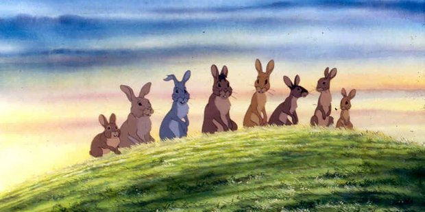 Scene from the film Watership Down.