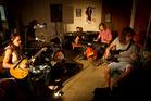 Rotorua band Strangely Arousing. From left, Lukas Wharekura, Oliver Prendergast, Liam Rolfe, Forrest Thorp and Shaun Loper. Photo/Stephen Parker