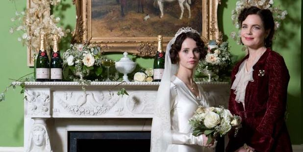 Elizabeth McGovern and Felicity Jones in Cheerful Weather for the Wedding. Photo / Supplied