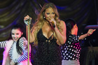 Mariah Carey's four-year-old daughter is already showing a talent for singing.