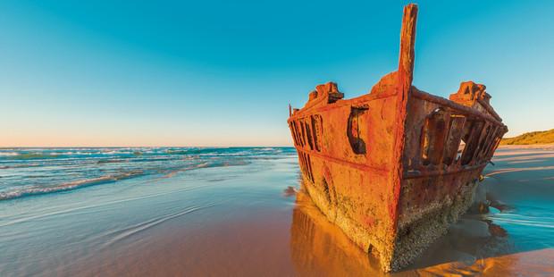 Maheno shipwreck.