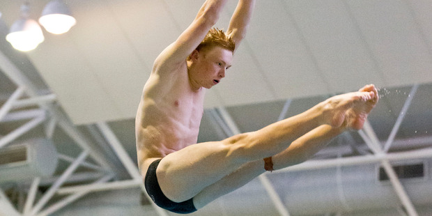 Springboard diver Liam Stone competed for New Zealand at the Commonwealth Games. Photo / Greg Bowker