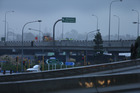 The Takitimu Drive overpass. Photograph by John Borren
