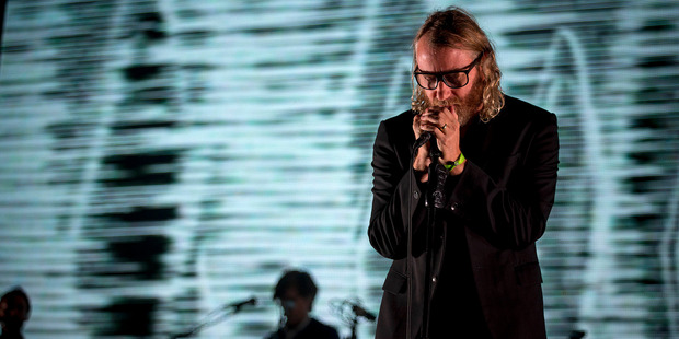 Matt Beringer lead vocalist of The National performs at the inaugural Auckland City Limits music festival at Western Springs. Photo / Chris Loufte