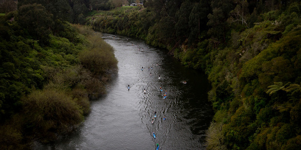 The Waikato River's 'C' score is classed as a fail and indicates the standard of river catchment is below the expectations of the vision and strategy for a healthy river. Photo / Christine Cornege