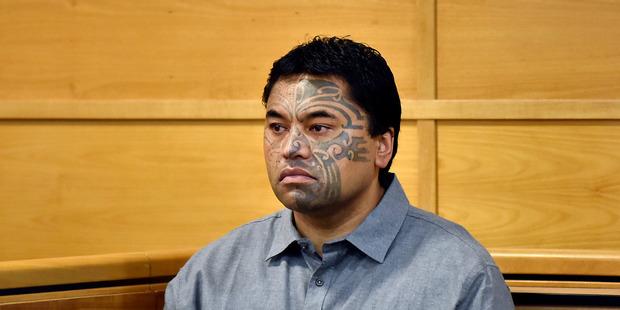 Hiakita Eruera during his murder trial. Photo/File