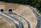 North of Auckland, quite heavy traffic backed up into the Johnstone's Hill Tunnel. File photo / NZ Herald