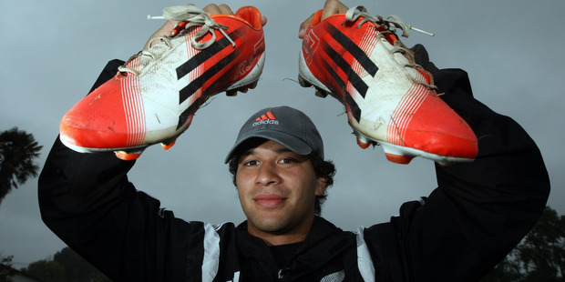 Hawke's Bay Magpie and Clive rugby player Jonah Lowe is behind the Bring your Boots campaign. Photo / Paul Taylor