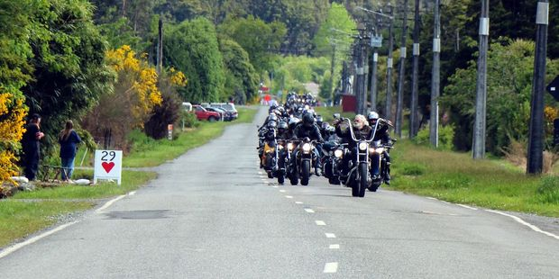 The Tribute 29 Ride pays tribute to Pike River victims. Photo / Amanda Paton