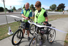 ON YOUR BIKE: Associate Minister of Transport and Tukituki MP Craig Foss (left) and Hastings deputy mayor Cynthia Bowers opened the newest addition of the iWay pathway network. PHOTO/Duncan Brown