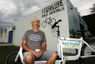 MAGNET: Fish Bike owner Brian Fish has a view of the ocean each day and wants the Marine Parade to remain an open and non-commercial area. PHOTO/PAUL TAYLOR
