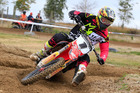 Honda racer Cody Cooper in action at Taupo's Digger McEwen MX Park on Sunday. Photo / Greg Henderson Photography