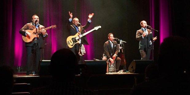 The Modern Maori Quartet delighted more than 120 concert-goers iat the Masterton Town Hall on Saturday night.  PHOTO/JASON IRELAND