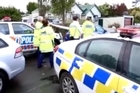"""A post on the police Twitter account says: """"Offender injured after being shot by police when he presented a firearm in Whanganui."""""""