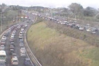 All lanes are now open but motorists should still expect delays while congestion eases. Photo / NZTA