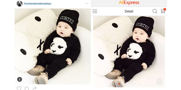 Dannevirke mother-of-three Danielle Paewai has had photos of her son Cortez, 14 months, pulled from her Instagram account and used on Chinese retailer AliExpress. Photo / Supplied