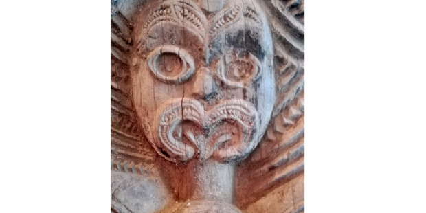 ORNATE CARVING: A close-up of one of the pou. PICTURES/SUPPLIED