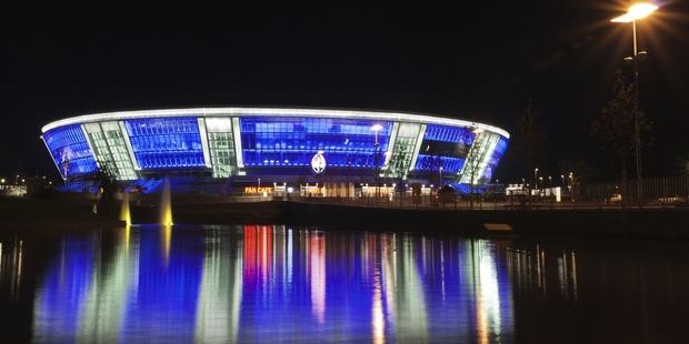 Stadium in Donetsk, Ukraine. Photo / Getty Images