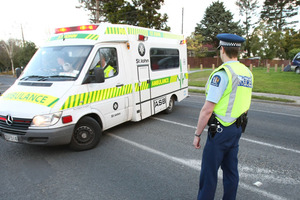 Police say the woman was hit on Mt Albert Rd at 12.05pm and has been taken to hospital. Photo / File