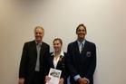 WINNER: Samantha Putt of Kerikeri High School and Julius Moore of Te Kura o Te Rangianiwania with their certificates.