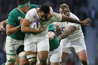 England no 8 Billy Vunipola would add monster value to a potential Lions back row. Photo / AP